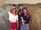 Zilu Camargo curte domingo com Wanessa e os netos