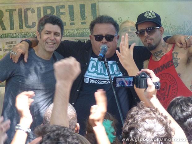 Leoni e Tico Santa Cruz gravaram Malhação ao lado de Leo Jaime, o Nando (Foto: Malhação / Tv Globo)