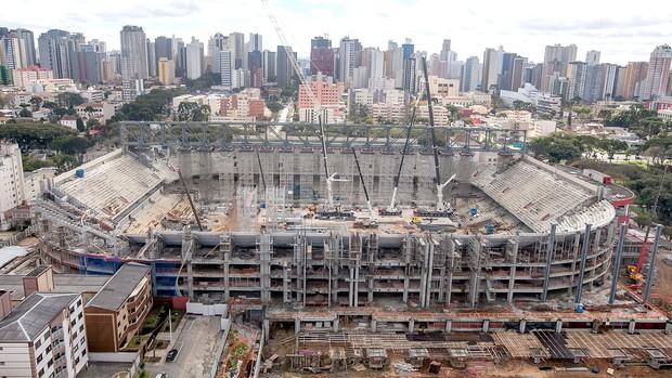 Arena da Baixada obras Curitiba Copa 2014 (Foto: Divulgação)