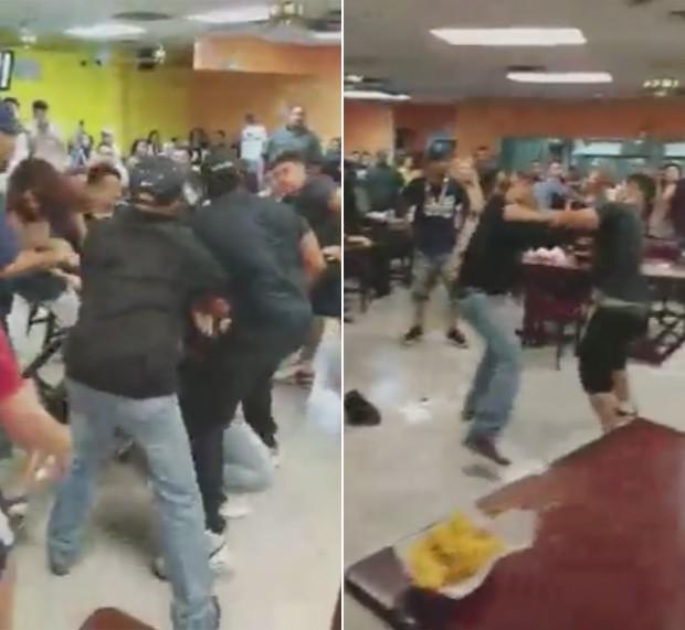Briga foi provocada por disputa sobre batatas fritas e molho (Foto: MSNBC)