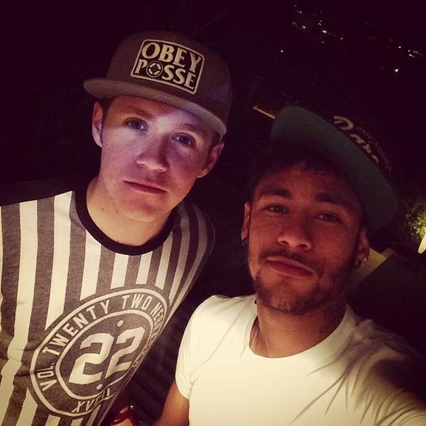 Niall Horan e Neymar (Foto: Reprodução/Instagram)