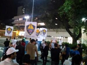Guardas caminharam pelas ruas na área central em Piracicaba (Foto: Guarda Municipal/Divulgação)