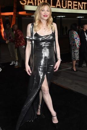 Courtney Love em evento de moda em Los Angeles, nos Estados Unidos (Foto: Larry Busacca/ Getty Images/ AFP)