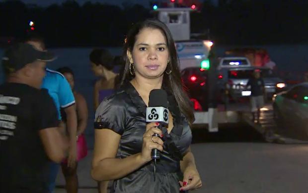 Cleia Andrade divide a função de repórter e produtora (Foto: Cleia Andrade/Arquivo pessoal)