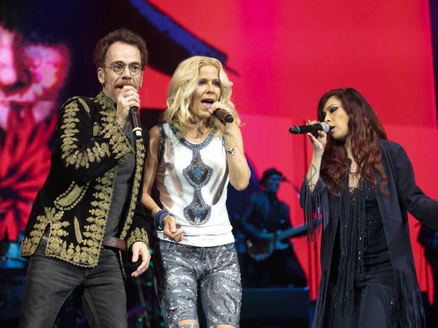 Nando Reis, Paula Toller e Pitty em show no Rio (Foto: Felipe Panfili/ Divulgação)