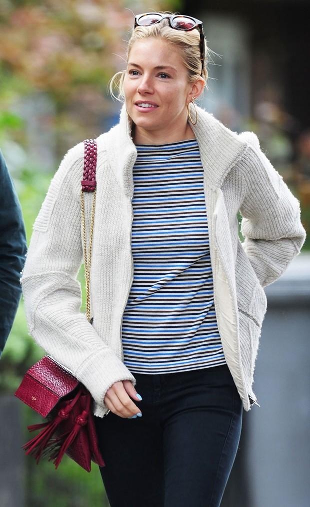 Sienna Miller sem maquiagem (Foto: Reprodução)