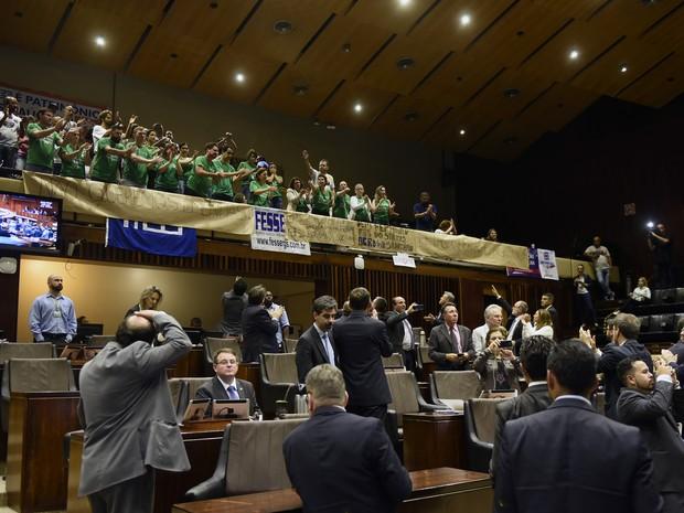 Votação do pacote do Sartori na ALRS (Foto: Divulgação/ALRS)