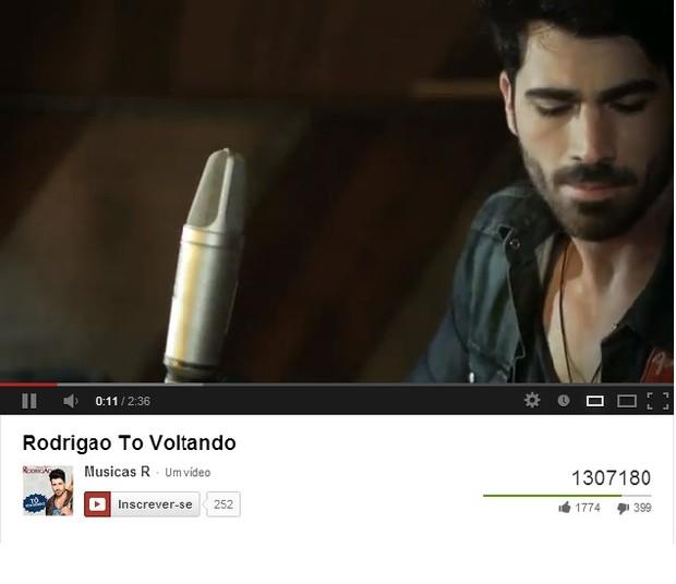 Web clipe com Rodrigão, ex-bbb, no youtube (Foto: Reprodução / Youtube)