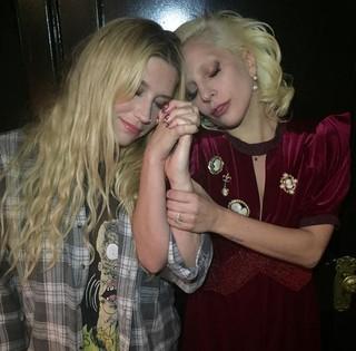 Kesha e Lady Gaga (Foto: Reprodução/Instagram)