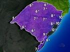 Temperaturas devem cair ainda mais a partir da noite desta terça no RS