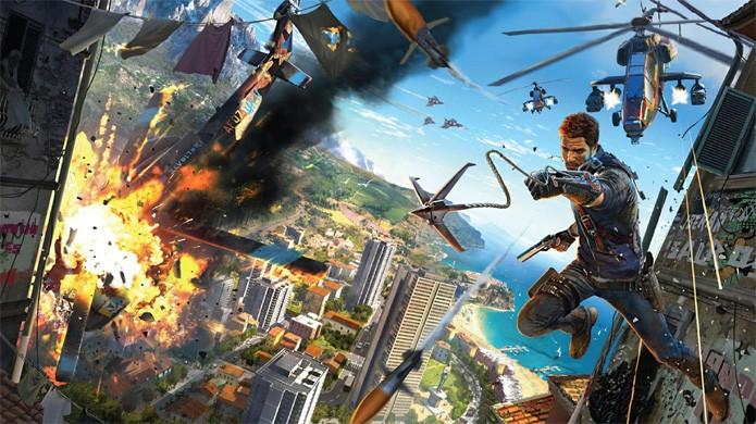 Just Cause 3 trará um grande mundo cheio de ação e explosões até para PCs mais fracos (Foto: Reprodução/YouTube)