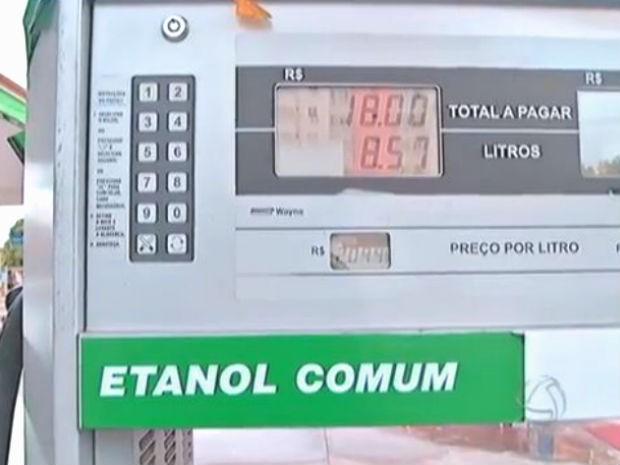 Em MS, utilizar etanol só é vantajoso para condutores de veículos flex em uma cidade (Foto: Reprodução/TV Morena)