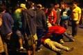Concentração de torcedores termina com um ferido na Vila Madalena, em São Paulo (Marcelo Mora/G1)