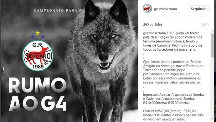 Serrano-PB, Loo da Serra, Instagram, ingressos (Foto: Reprodução / Instagram)