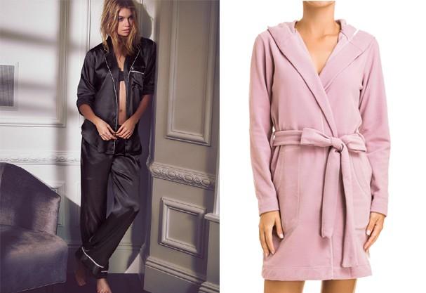 Pijamas Victoria's Secret e roupão Hope (Foto: Divulgação)
