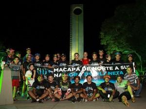 Em 2014, o movimento 'A Hora do Planeta' mobilizou ciclistas de Macapá (Foto: Divulgação)