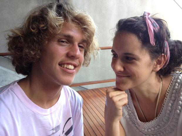 Intimidade entre os irmãos Theo e Ana (Foto: Arquivo Pessoal)