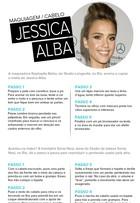 Aprenda a fazer o make e penteado de Jessica Alba em desfile de moda