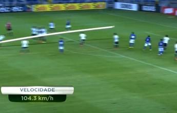 No Detalhe: bomba em gol de Charles atinge 104 km/h... Assista ao vídeo!