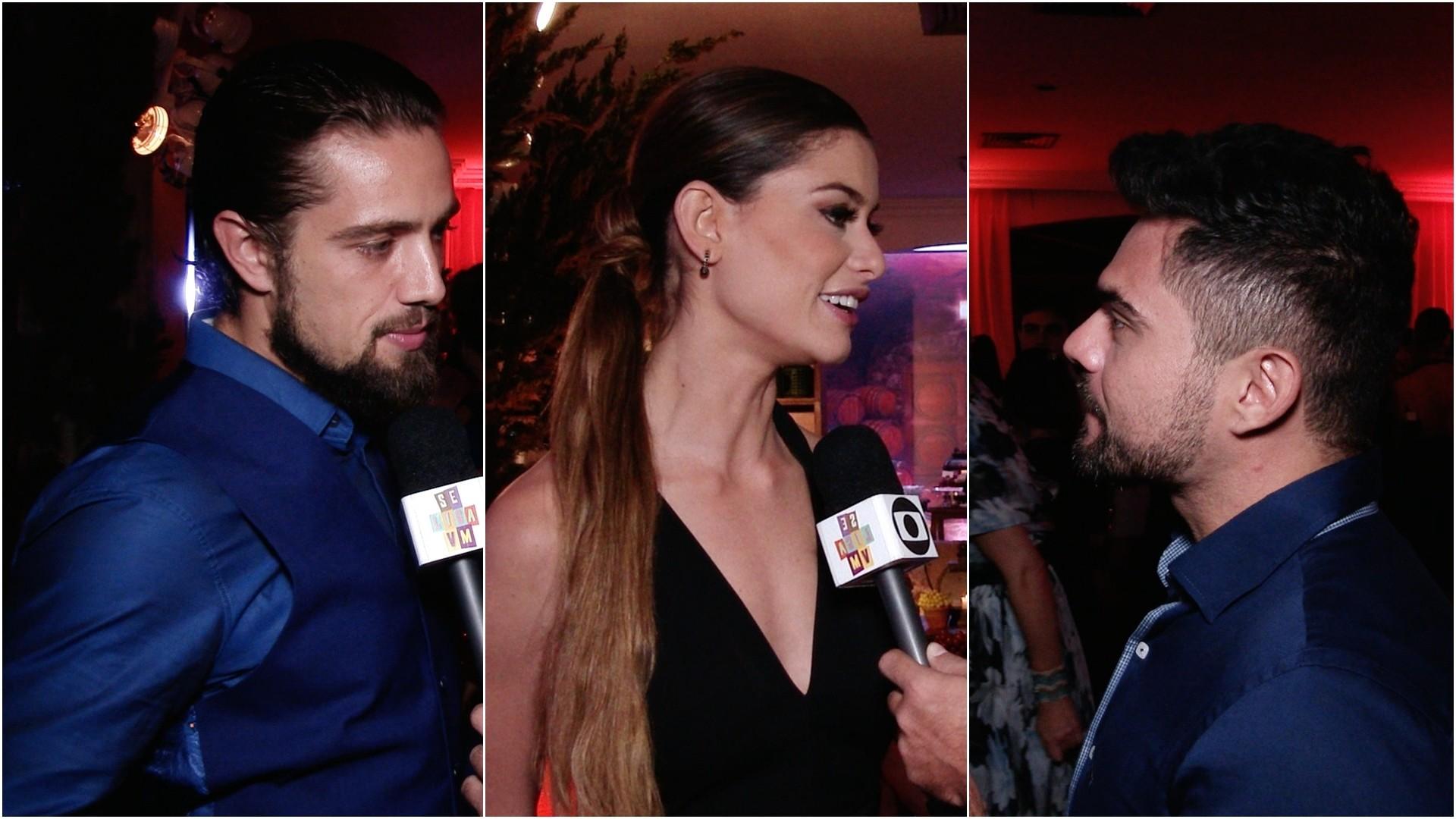 Rafael Cardoso e Aline Araújo falam sobre os seus personagens. (Foto: Se Liga VM)