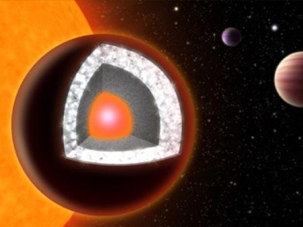 O planeta 55 Cancri e (Foto: Haven Giguere/Yale)