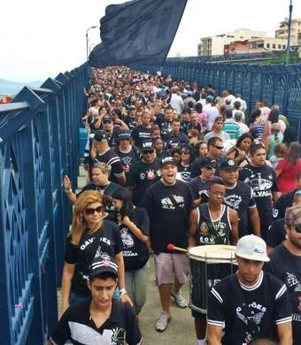 Torcida do Corinthians no Santuário de Aparecida (Foto: Daniela Chaves/Divulgação)