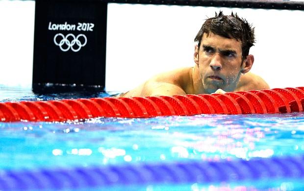Michael Phelps na prova dos 200m borboleta em Londres (Foto: AP)