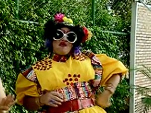 Ator Carlos Anchieta como 'Maria dos Prazeres', atração do festival 'Hilaridade Fatal' (Foto: Reprodução/TV Globo)