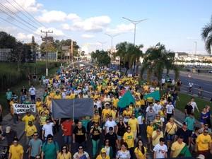 Criciúma teve passeata neste domingo (Foto: criciúma)