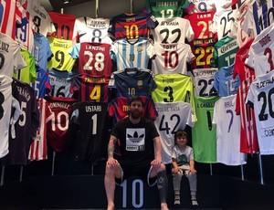 BLOG: Coleção de camisas de Messi tem três do Real, cinco de brasileiros...
