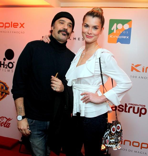 Alinne Moraes e o marido, Mauro Lima (Foto: Marcello Sá Barretto/AgNews)