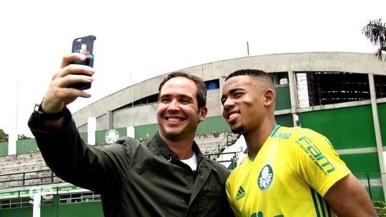 Caio Ribeiro visita a Academia do Palmeiras: é sábado, no Globo Esporte
