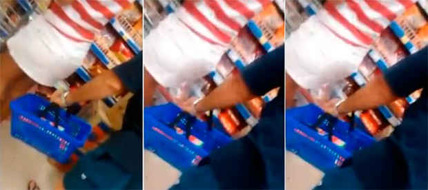 Vídeo mostra auditor tentando filmar parte íntima de mulher em Natal; veja (Foto: Reprodução/Inter TV Cabugi)