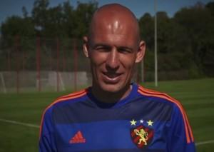 Robben com terceira camisa do Sport (Foto: reprodução/vídeo)