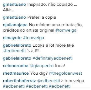 Internautas comentam publicação da WSL pedindo retratação ao trabalho de Tom Veiga (Foto: Reprodução/Instagram)