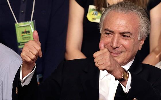 Vice-presidente Michel Temer  (Foto: AP)