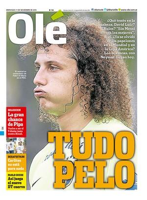 Capa Olé David Luiz (Foto: Reprodução)