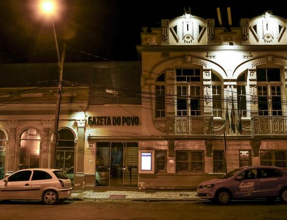 Fachada da sede do jornal Gazeta do Povo, em Curitiba. (Foto: Gazeta do Povo)