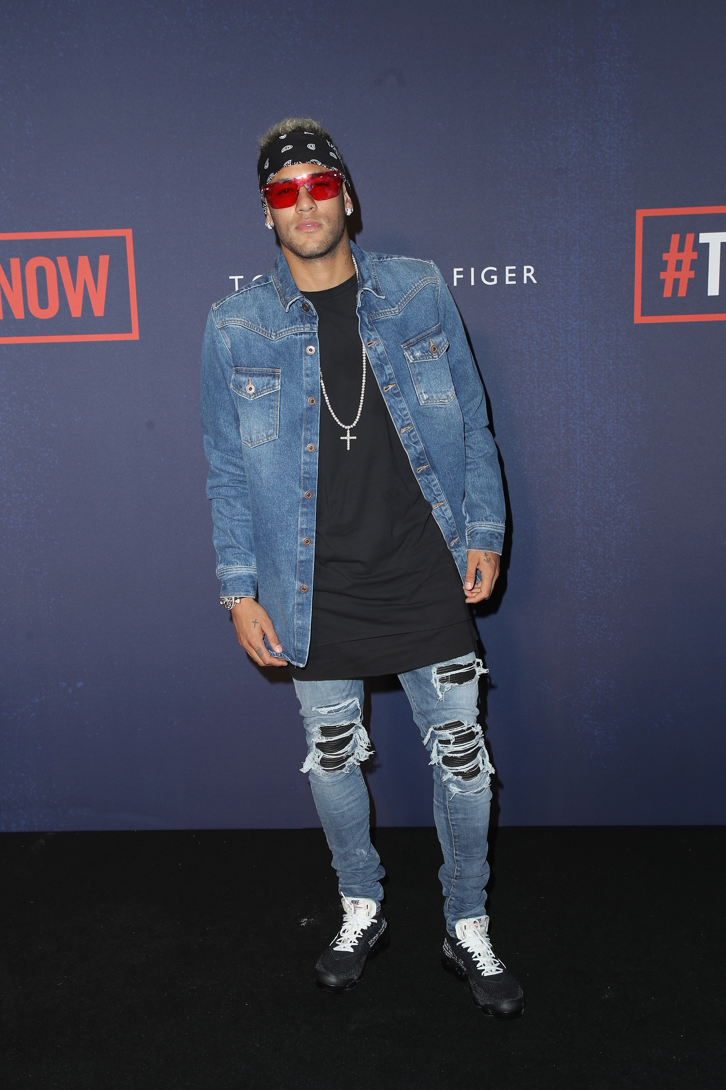 Neymar no desfile da Tommy Hilfiger (Foto: Mike Marsland/Getty Images)