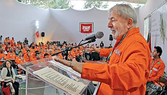 Lula no encontro dos petroleiros (Foto: Roberto Stuckert)
