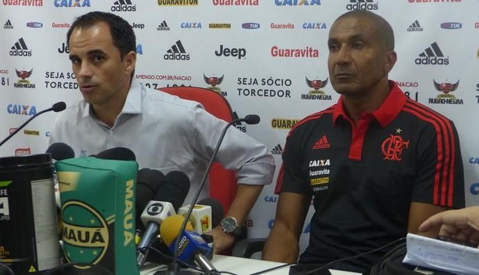 Rodrigo Caetano e Cristóvão Borges Flamengo (Foto: Richard Souza/ GloboEsporte.com)