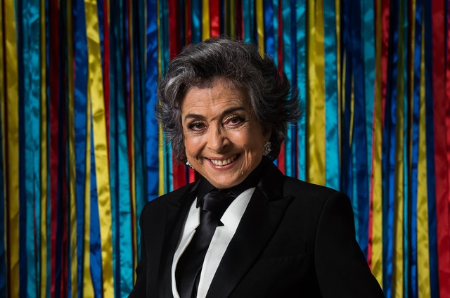 Betty Faria no lançamento de 'A força do querer' (Foto: Globo / Estevam Avellar)