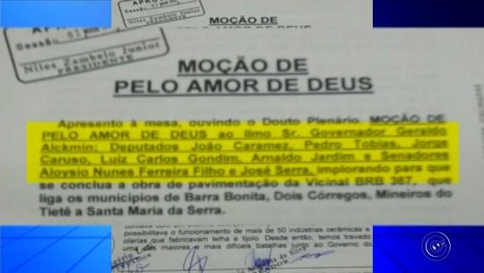 Vereadores de Barra Bonita imploram por pavimentação de vicinal com moção 'pelo amor de Deus'