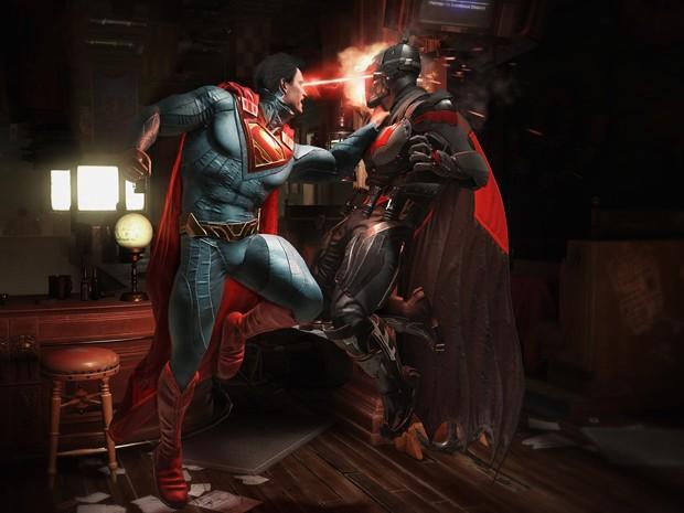 'Injustice 2' dá continuidade à história do primeiro jogo, que termina com Batman prendendo o Superman (Foto: Divulgação/WB Games)