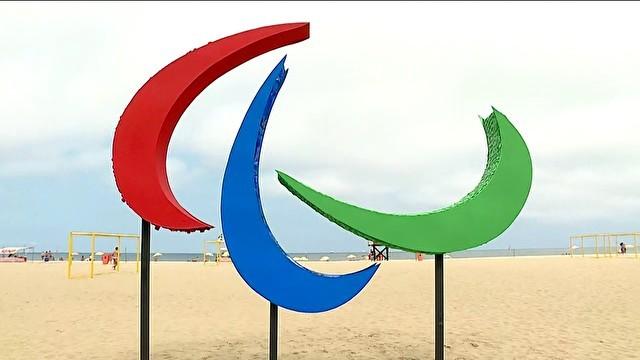 Paralimpíada Copacabana - Gnews (Foto: reprodução GloboNews)