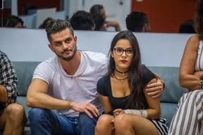 Marcos e Emilly (Foto: Globo / Paulo Belote)
