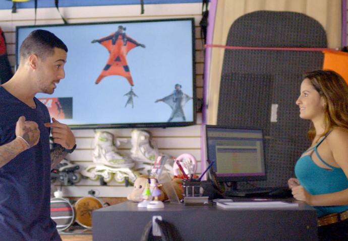Samurai elogia o trabalho da menina (Foto: TV Globo)