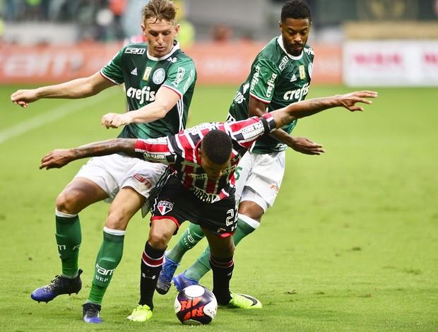 Palmeiras x São Paulo Róger Guedes Michel Bastos Júnior Tavares