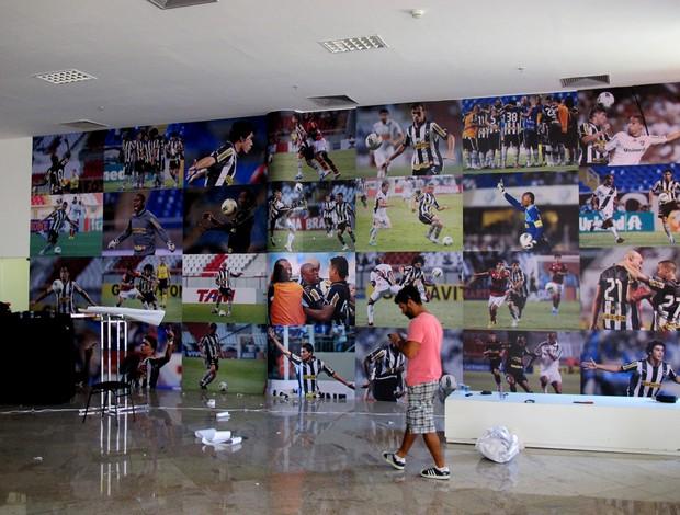 nova decoração estádio engenhão (Foto: Thales Soares)