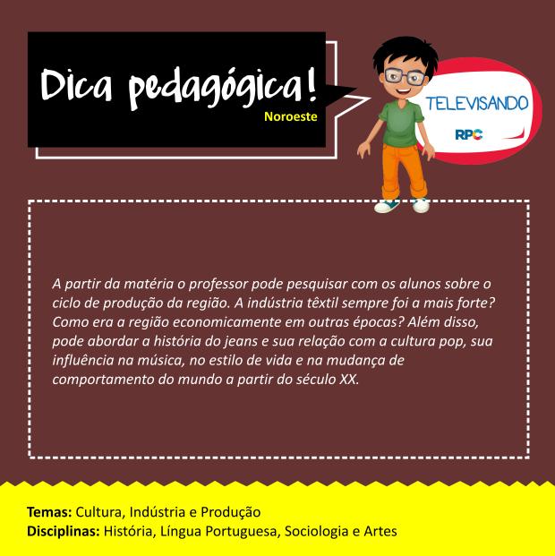 Dicas Pedagógicas - Noroeste (SITE) (Foto: Divulgação/ RPC)